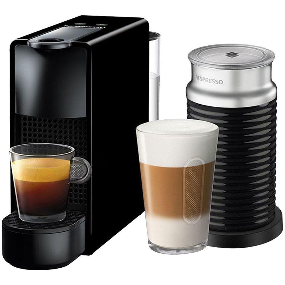 Cafeteira Nespresso Essenza Mini D30 com Aeroccino - 110V Preto