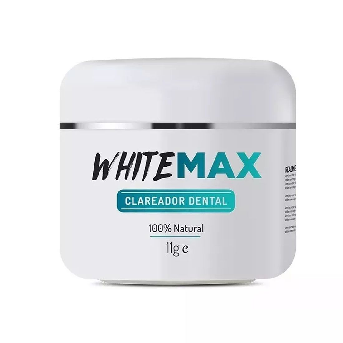 Clareador Dental Whitemax 1 Pote 11g  100% Natural White Max
