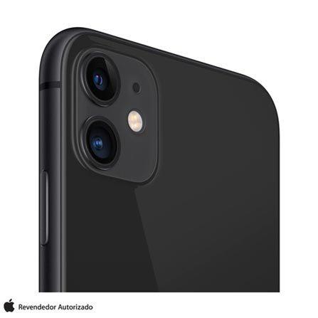 """iPhone 11 Preto Tela de 6,1"""" 4G 128GB Câmera 12 MP"""