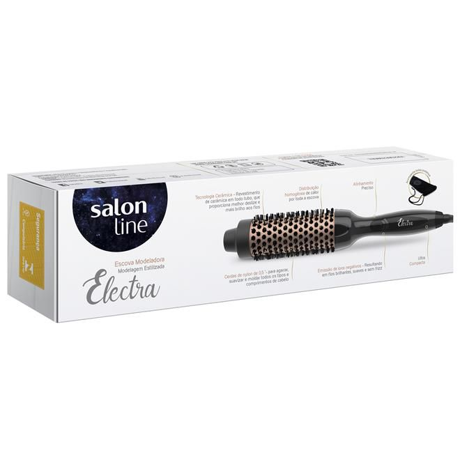 Escova Modeladora Salon Line  Electra 200ºC 38mm - Bivolt
