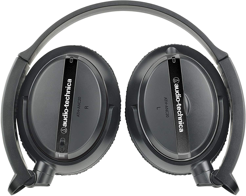 Fone de Ouvido Audio Technica QuietPoint ATH ANC20  Preto