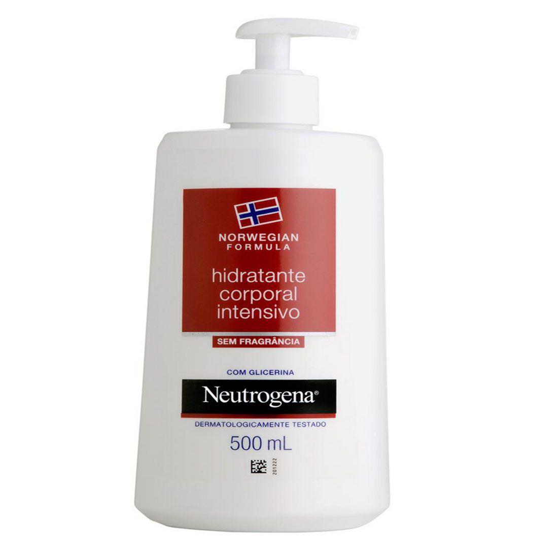 Hidratante Corporal Intensivo Neutrogena Norwegian Sem Fragrância 500ml