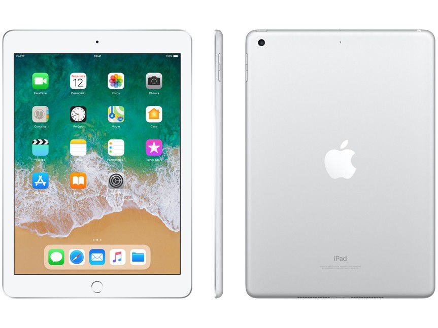 iPad 6 Apple 128GB Tela 9.7 Silver iOS 11 Model A1893