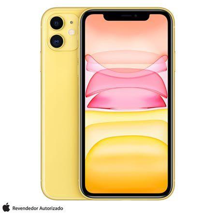 """iPhone 11 Amarelo Tela de 6,1"""" 4G 128GB Câmera 12 MP"""