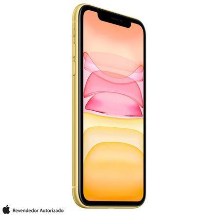 """iPhone 11 Amarelo Tela de 6,1"""" 4G 64GB Câmera 12 MP"""