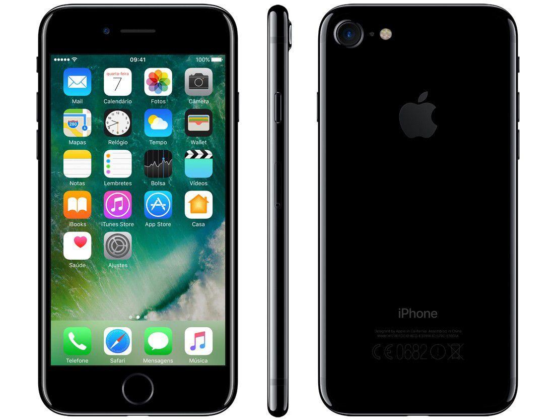 Iphone 7 Apple Preto Brilhante - 256 GB Modelo A1778