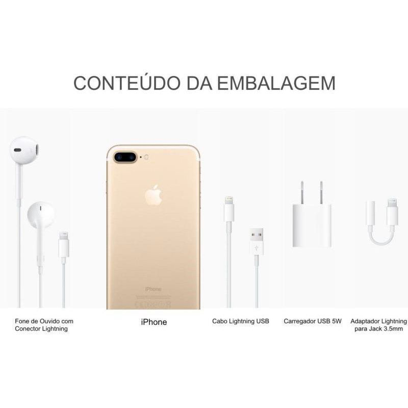 Iphone 7 Plus Apple 128GB Model A1661 Rose Dourado