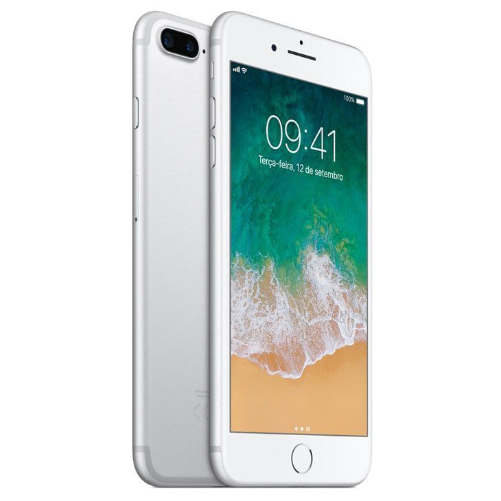 Iphone 7 Plus Apple Model A1661 Silver Prata 128 GB