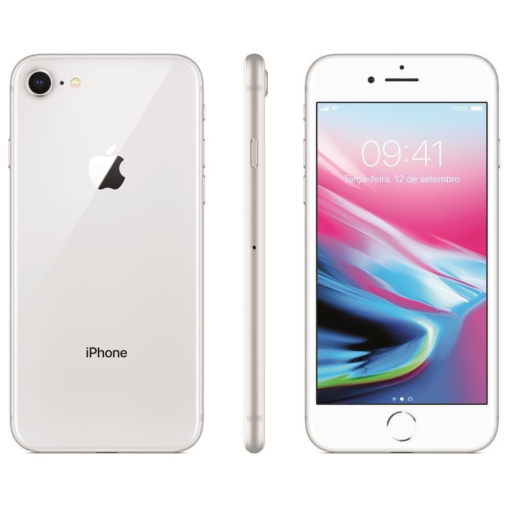 Iphone 8 Apple 64gb Prata - Silver