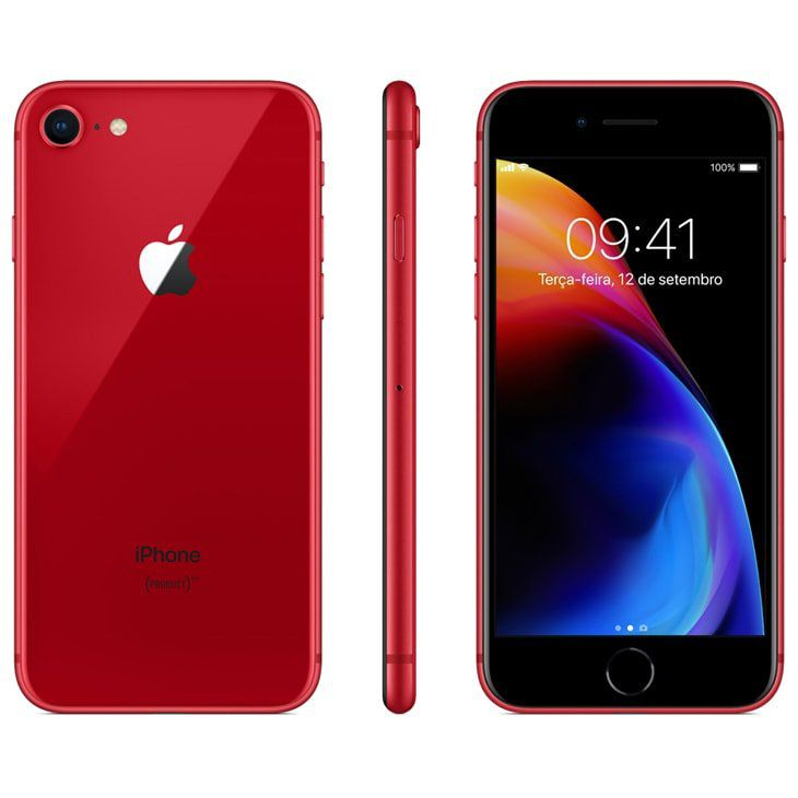 Iphone 8 Apple 64 GB IOS 11 Modelo A1905 Tela de 4.7  Red