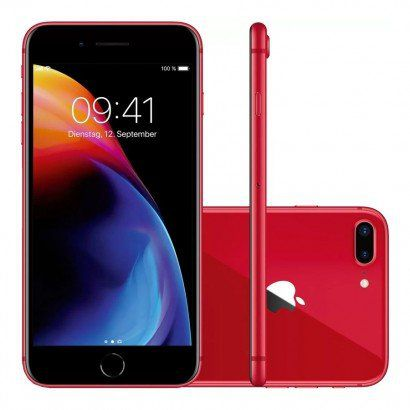 Iphone 8 Plus Apple 256GB IOS 11 A1905 Tela de 5.5 Vermelho