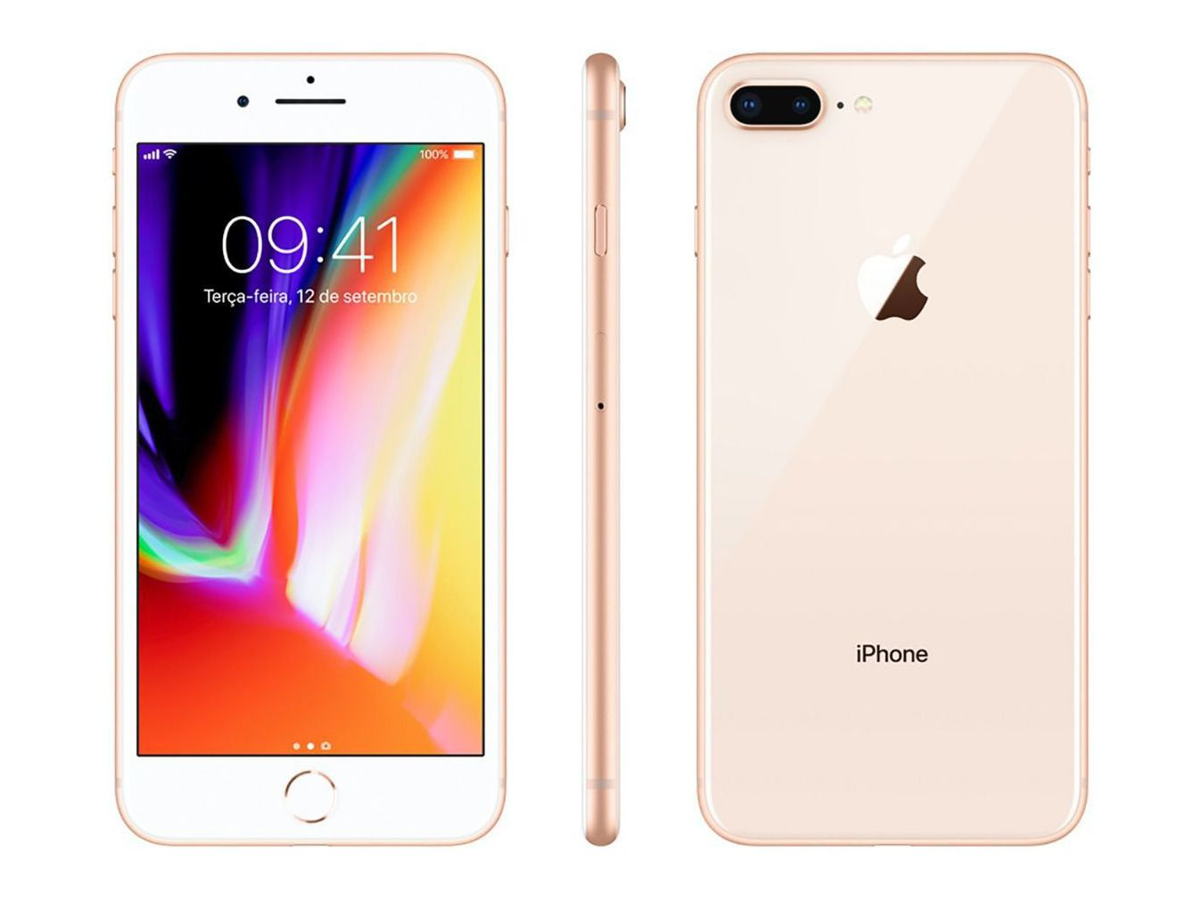 Iphone 8 Plus Apple 64 GB IOS 11  Tela de 5.5  Gold/Dourado