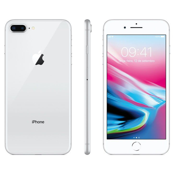 Iphone 8 Plus Apple 64 GB IOS 11 Tela de 5.5 Silver/Prata