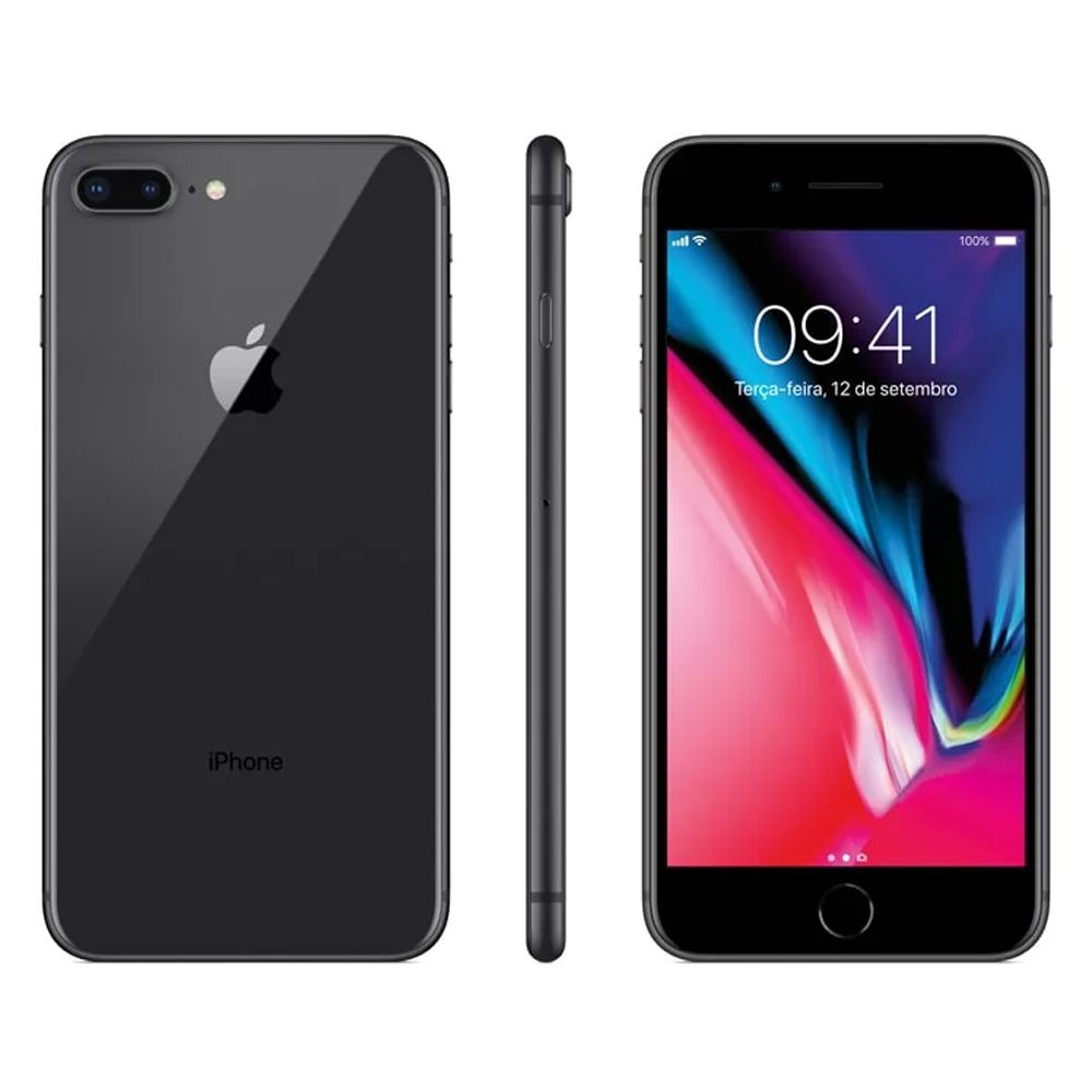 Iphone 8 Plus Apple 64GB Model 1897 Tela 5,5 Cinza Espacial
