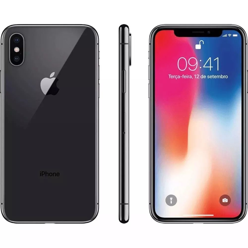 Iphone X 256gb Apple iOS 12 Cinza Espacial