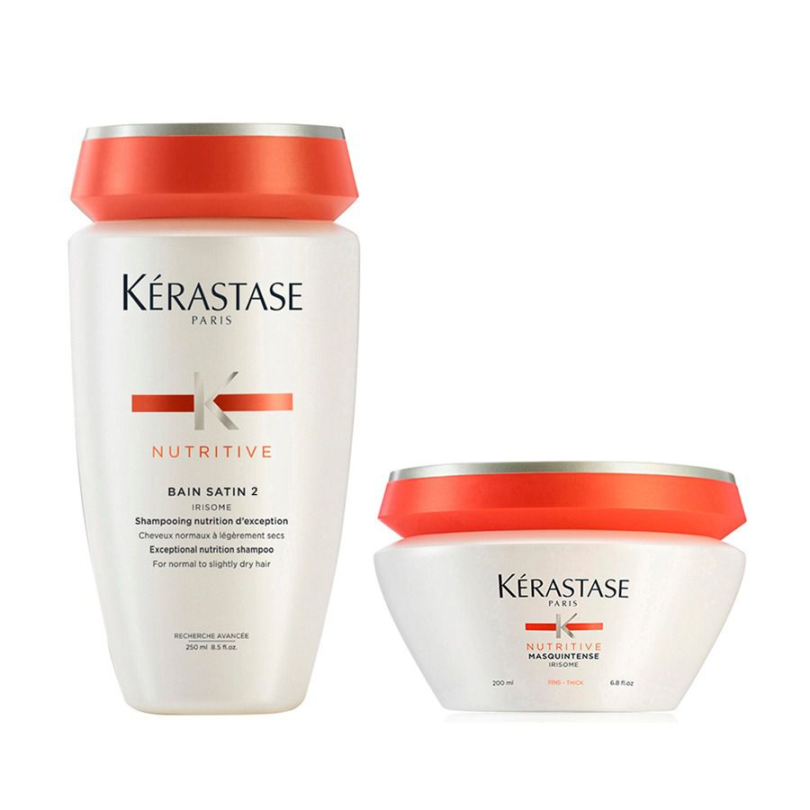 Kit Kérastase Nutritive Bain Satin 2 Shampoo 250ml + Máscara 200g