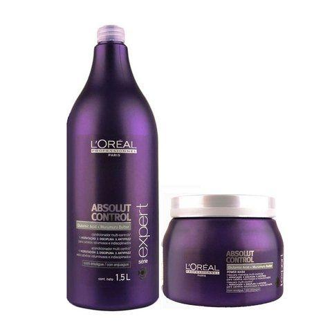 Kit Loreal Absolut Control Shampoo1,5L + Máscara 500g