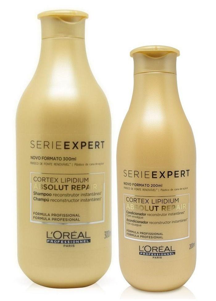 Kit Loreal  Absolut Repair Cortex Lipidium Shampoo 300ml + Condicionador 200ml