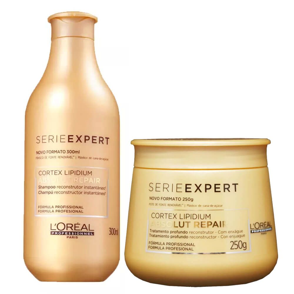 Kit Loreal Expert Absolut Repair Shampoo 300ml + Máscara 250g