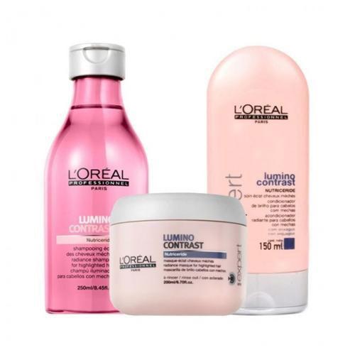 Kit Loreal Lumino Contrast Shampoo 250ml + Condicionador 150ml + Máscara 200g