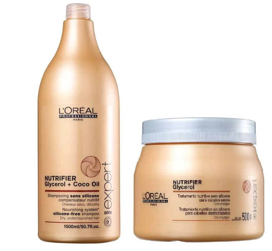 Kit Loreal Nutrifier Shampoo 1,5L + Máscara 500g