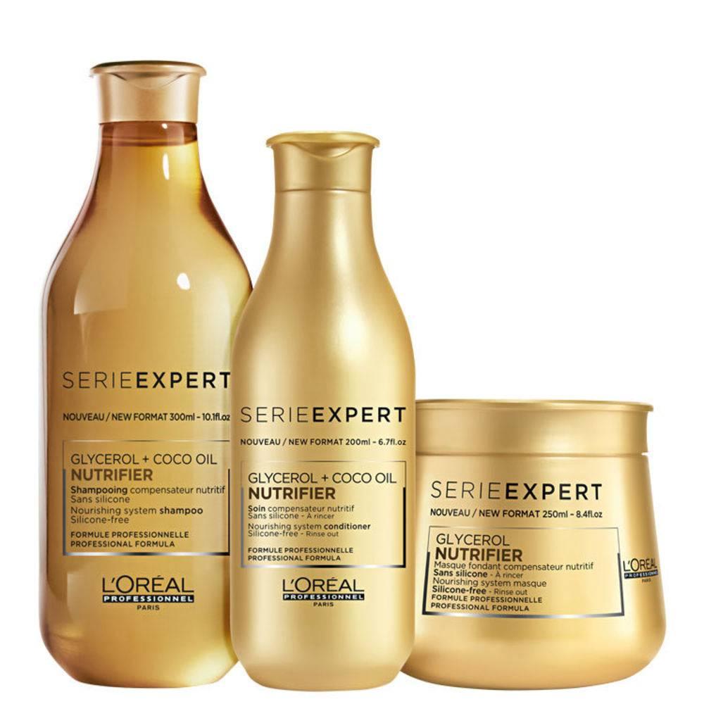 Kit Loreal Nutrifier Shampoo 300ml + Condicionador 200ml + Máscara 250g