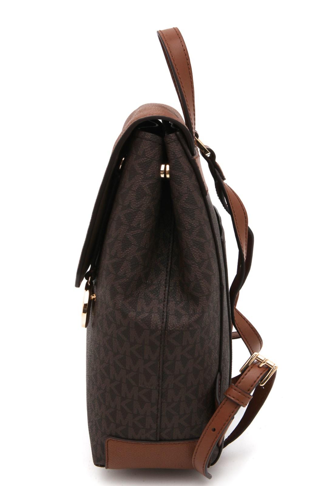 Mochila Michael Kors Hayes Marrom Luggage