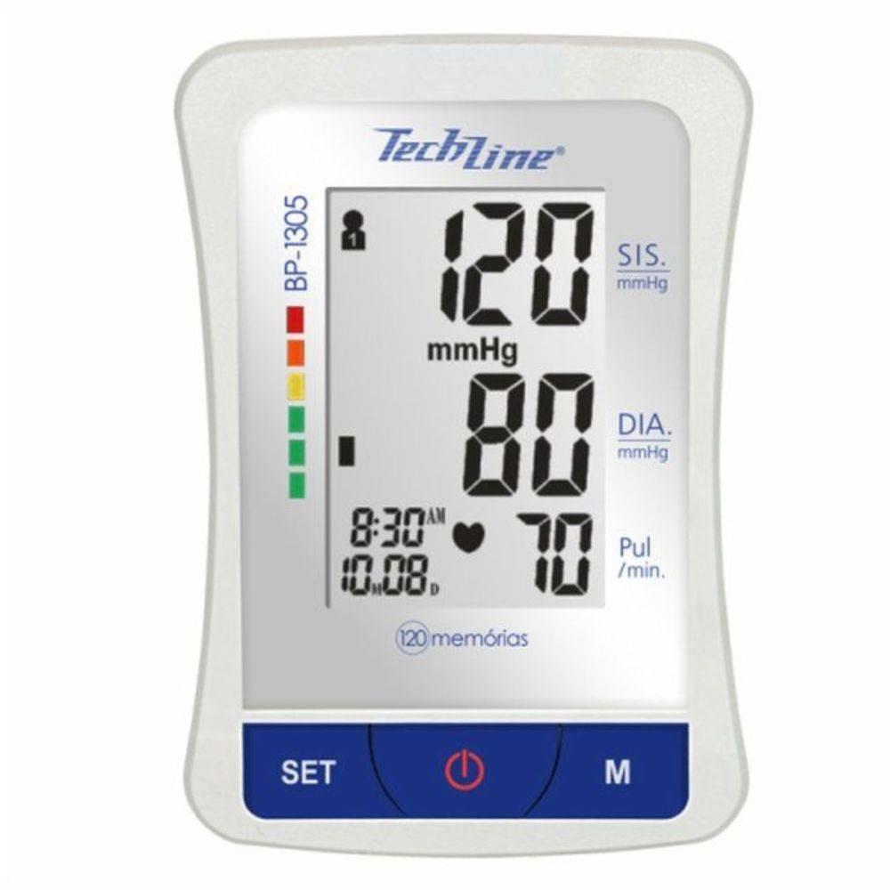 Monitor De Pressão Arterial de Braço Techline Automático Bp 1305