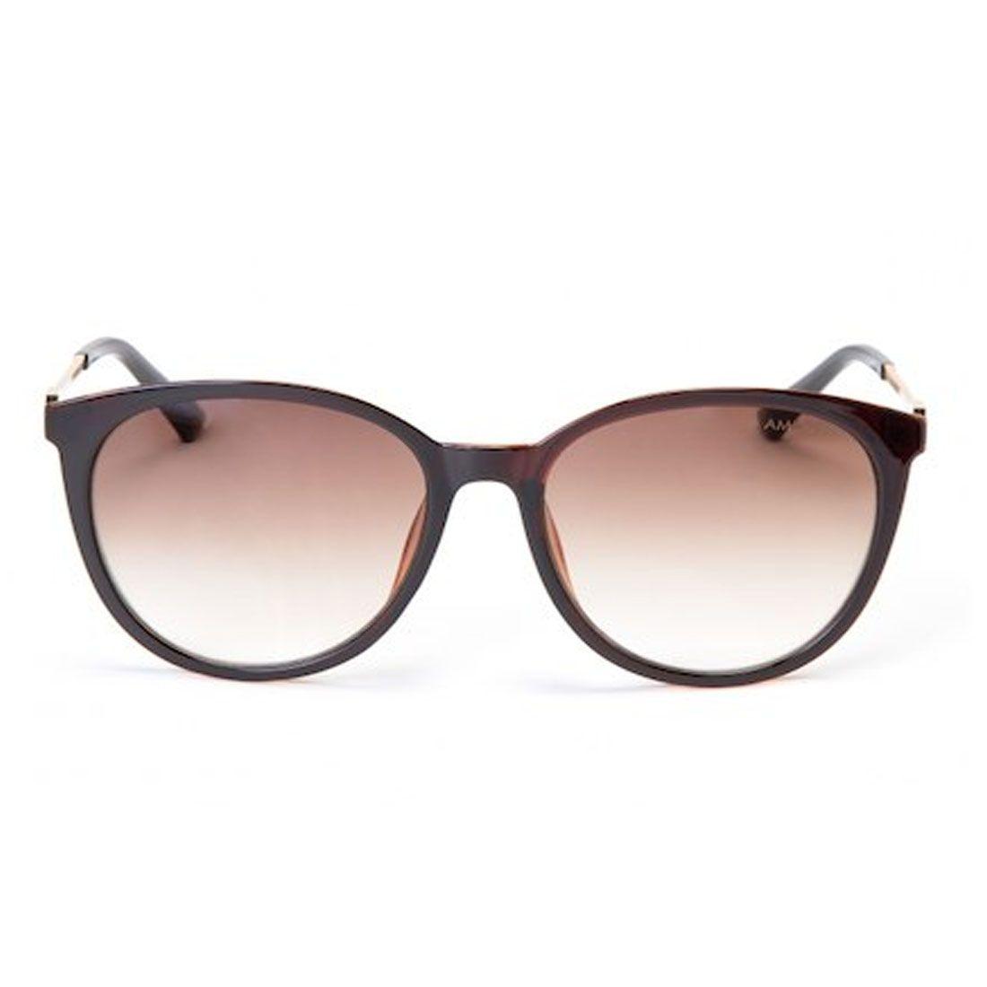 061e54189ec34 Óculos de Sol Amaro Coleção de Sol D-Frame Marrom
