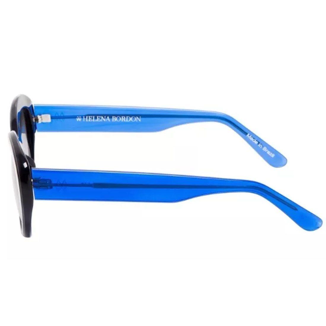 Óculos De Sol Helena Bordon Modelo Preto & Azul