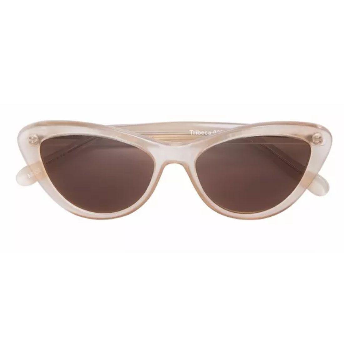 Óculos De Sol Helena Bordon Modelo Tribeca Transparente