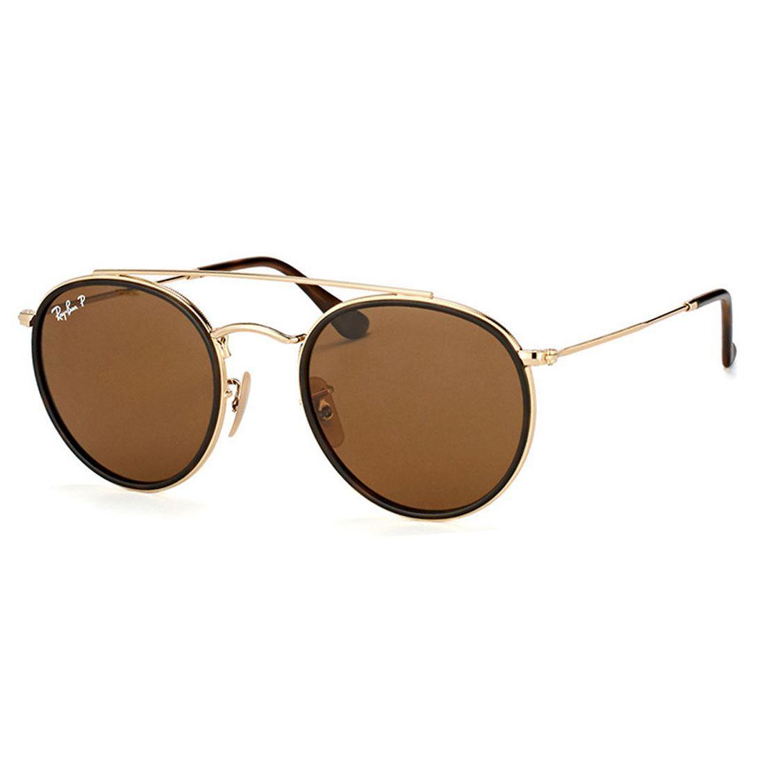 27b9f6a68 Óculos Rayban Modelo Double Brigde Marrom Original
