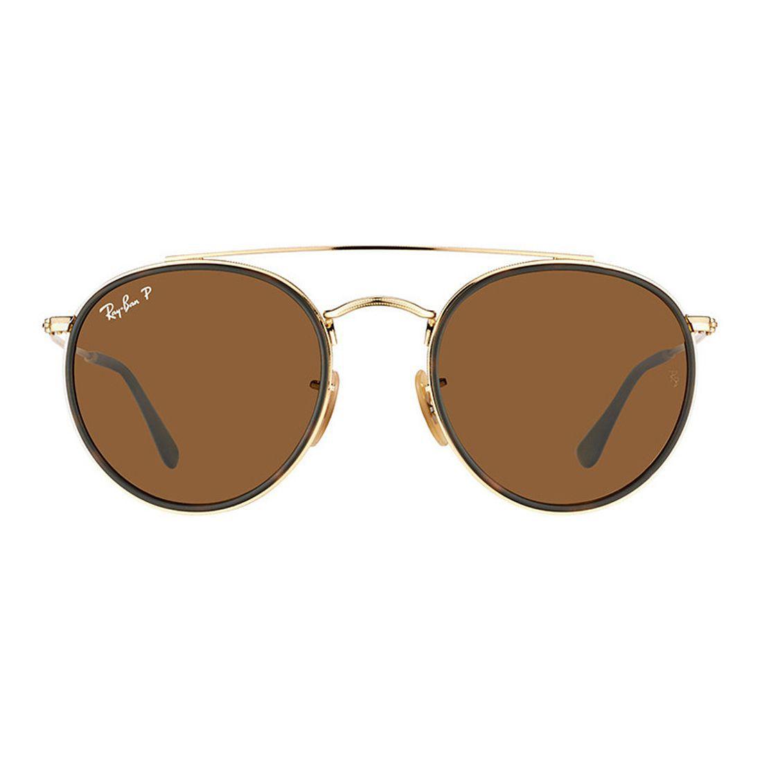 72ba2543130e9 Óculos Rayban Modelo Double Brigde Marrom Original