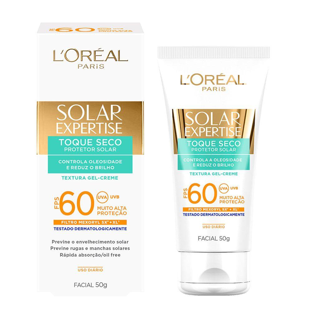 Protetor Solar Facial L'oreal Expertise Toque Seco FPS60 50g