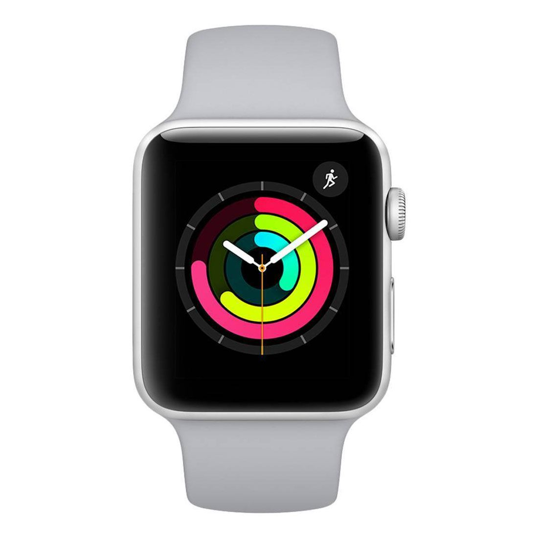 37223fd6566 Relogio Apple Watch 3 Silver Aluminum Fog Sport Band Gray 38mm - JP Import  ...