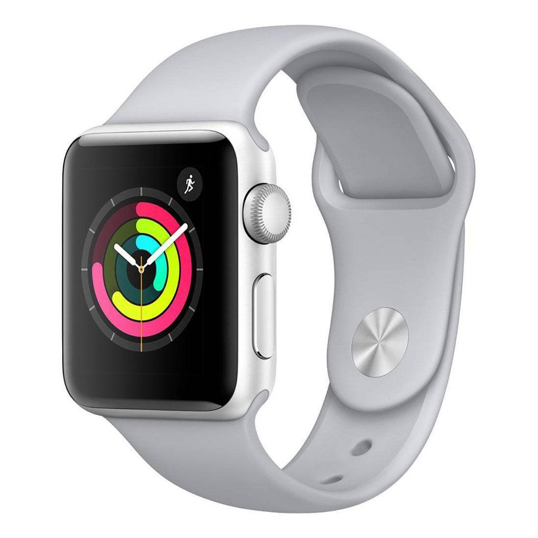 Relogio Apple Watch 3 Silver Aluminum Fog Sport Band Gray 38mm