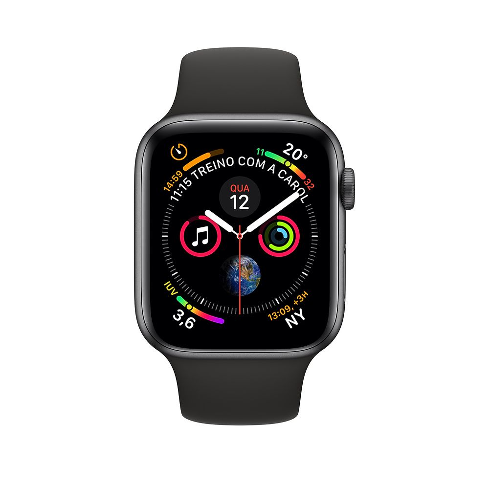 Relógio Apple Watch S4 Preto 44 mm A1978 GPS