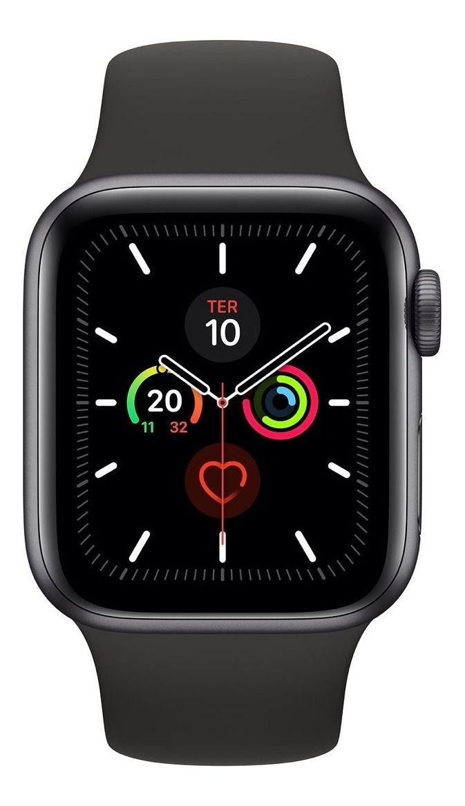 relógio Apple Watch Series 5 44mm Gps + Celular Preto