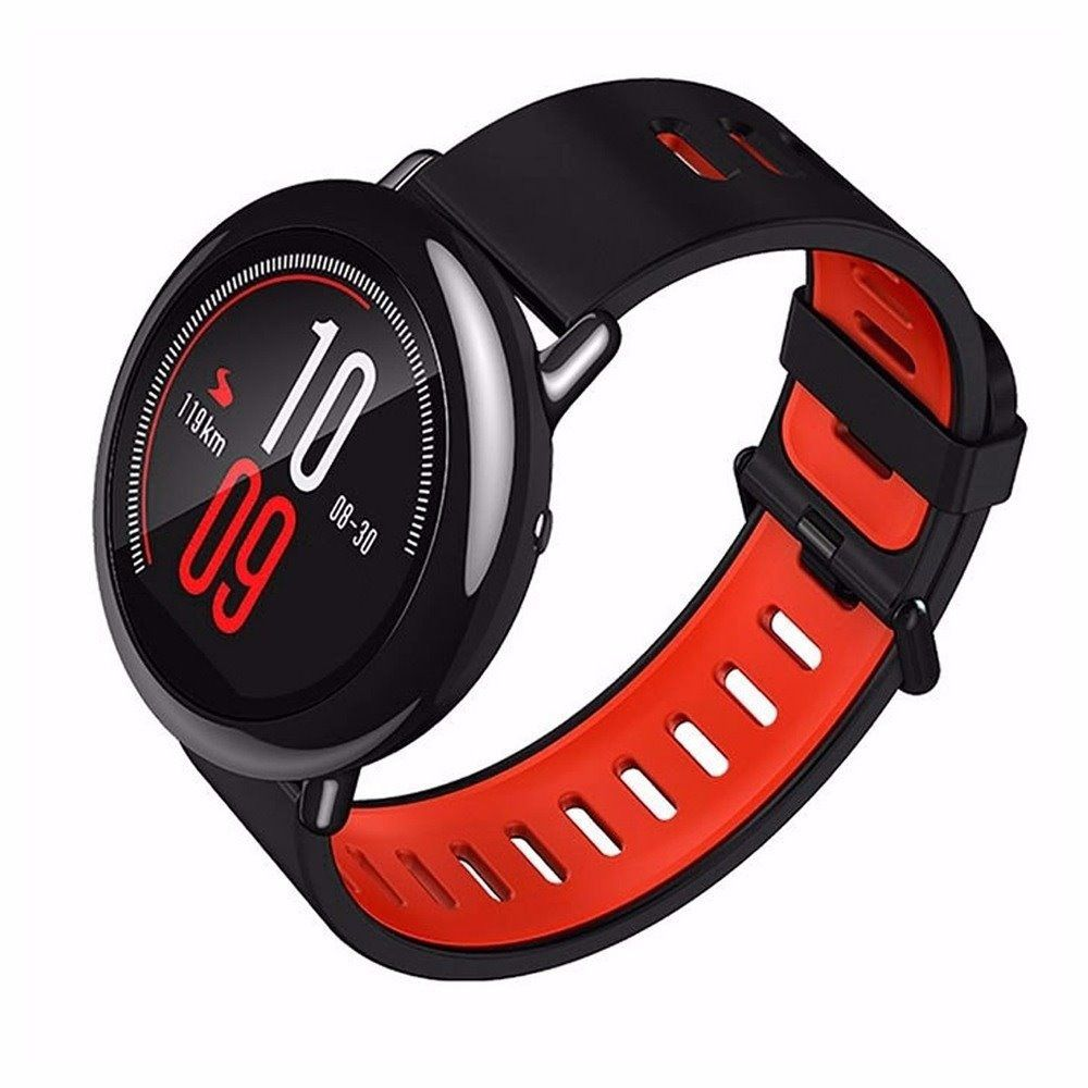 Relógio Amazfit Pace Smartwatch Preto e Vermelho