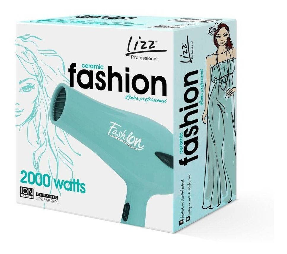 Secador De Cabelo Lizz Fashion 2000 Watts 110v