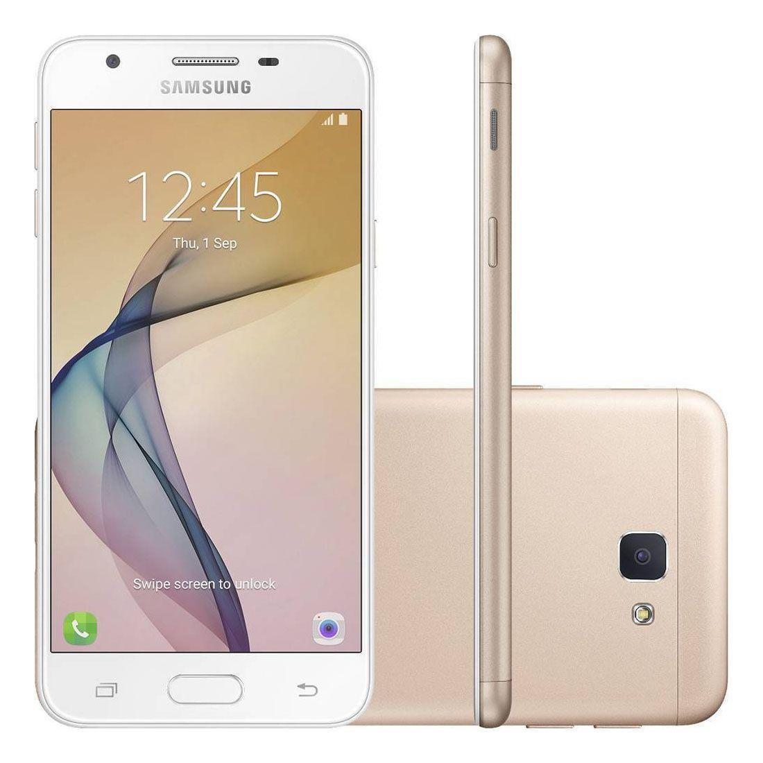 Smartphone Samsung Galaxy J5 Prime Dourado 32 GB Tela 5 - 4G Dual Chip