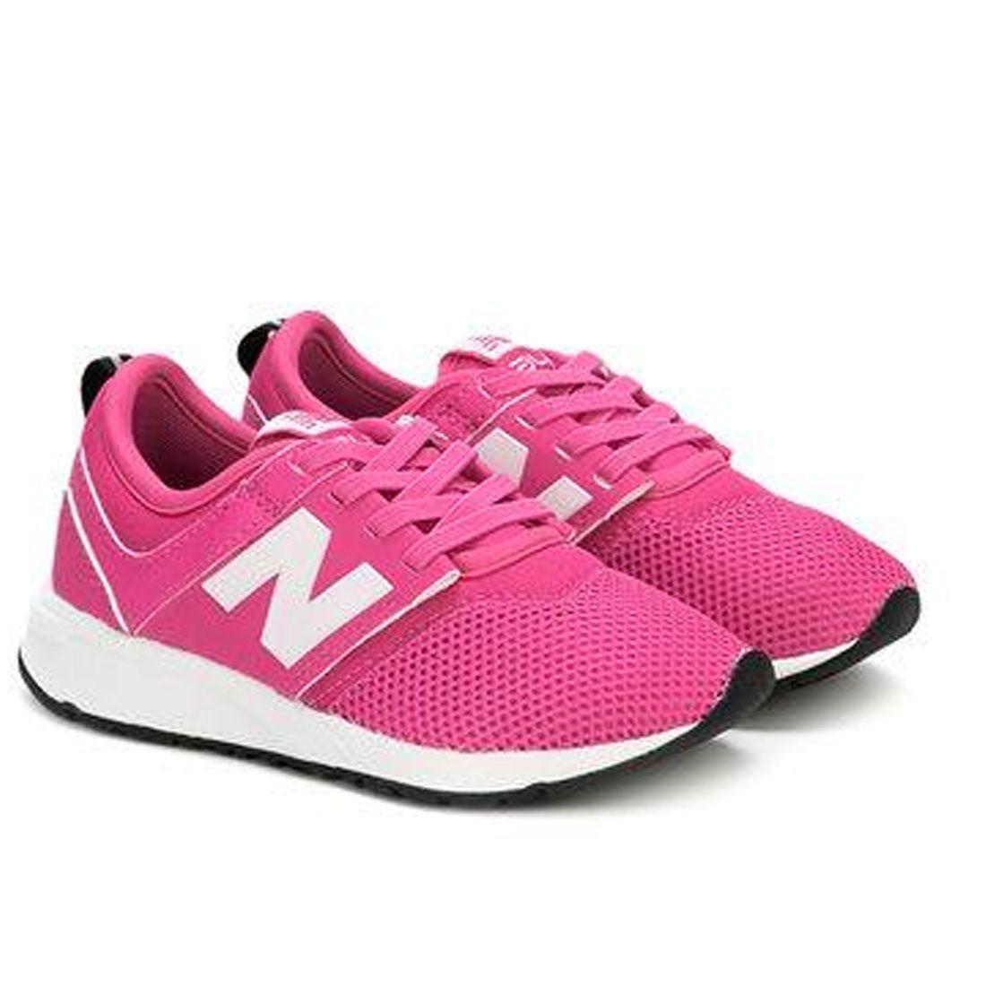 8d83ce08214 Tênis Infantil New Balance Children Girls 247 Rosa N.29