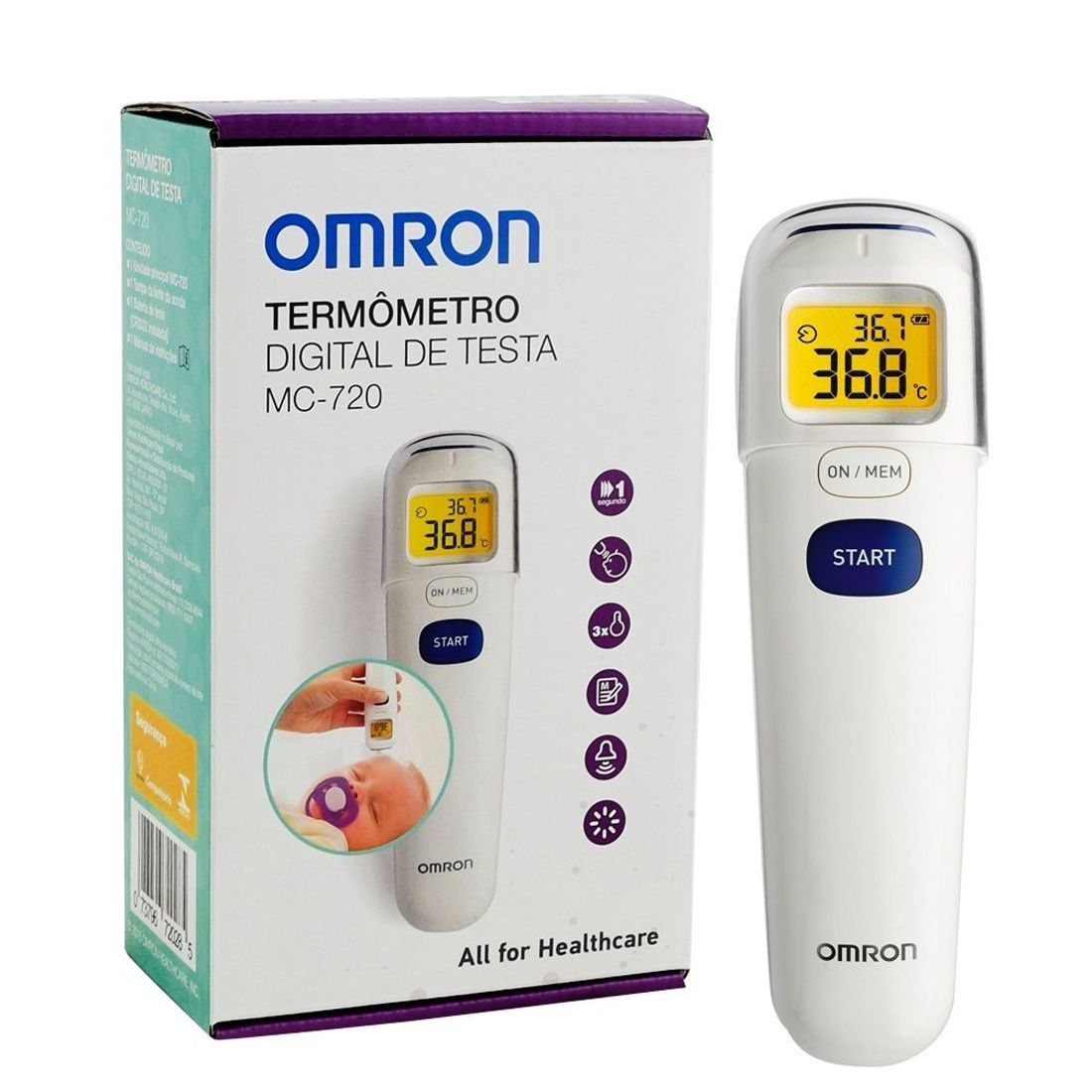 Termômetro de Testa Omron MC-720