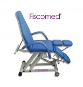 Cadeira de Podologia Azul Semi-Elétrica na Elevação