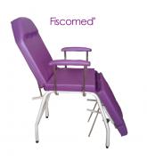 Cadeira de Podologia Roxa Mecânica Ajuste na Biperna Com Prolongador