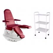 Cadeira Poltrona Podologia Elétrica E Brinde Ferrante Fiscomed