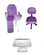 Kit Para Podologia Básico Cadeira Mocho à Gás Brinde