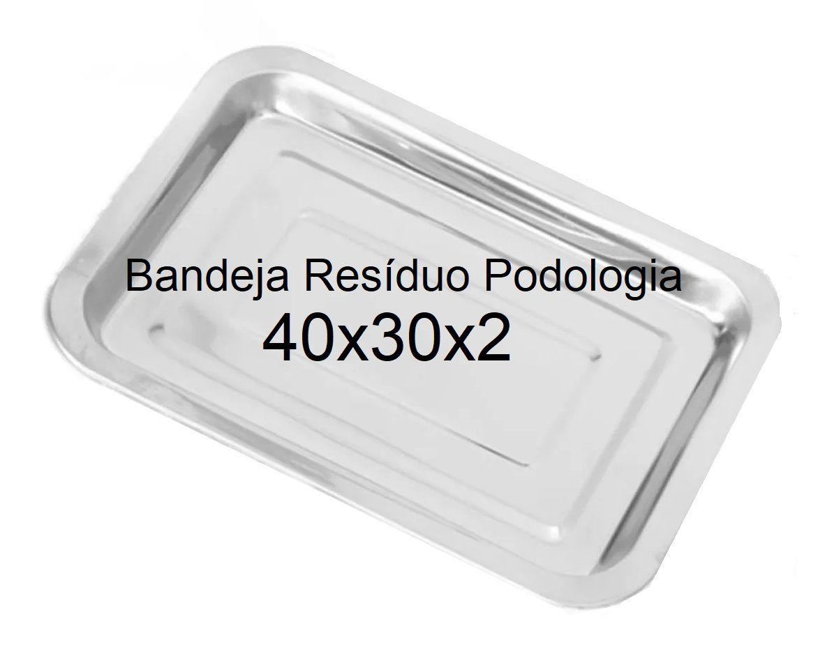 Bandeja Resíduo Podologia de Inox