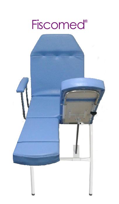 Cadeira De Podologia Azul Mecânica Com Prolongador De Perna