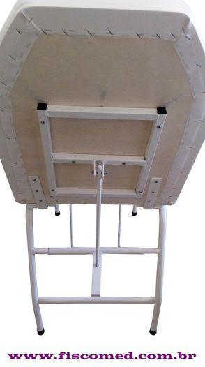Cadeira de Podologia Azul Mecânica Ajuste na Biperna Com Prolongador de Perna